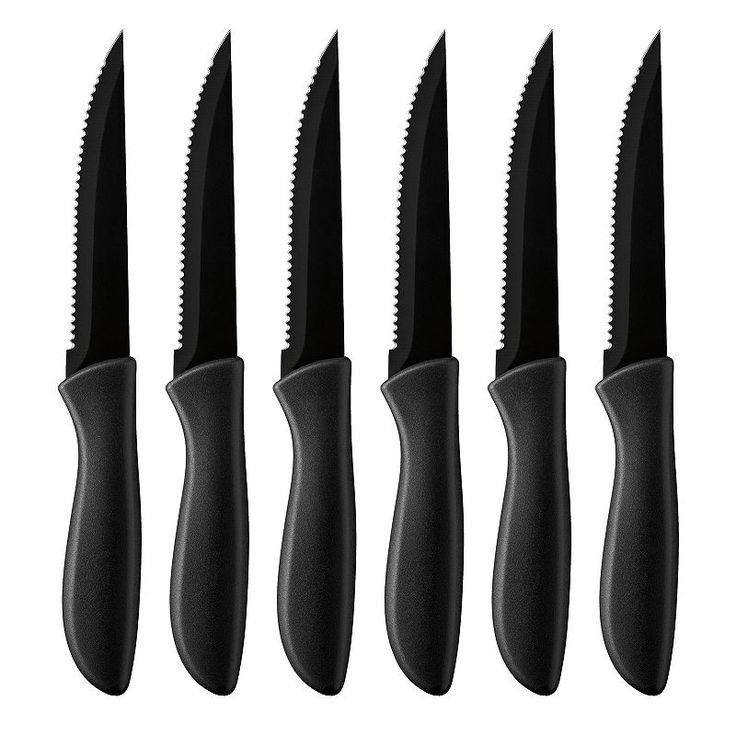 Cuisinart Advantage 6-pc. Ceramic-Coated Steak Knife Set, Black