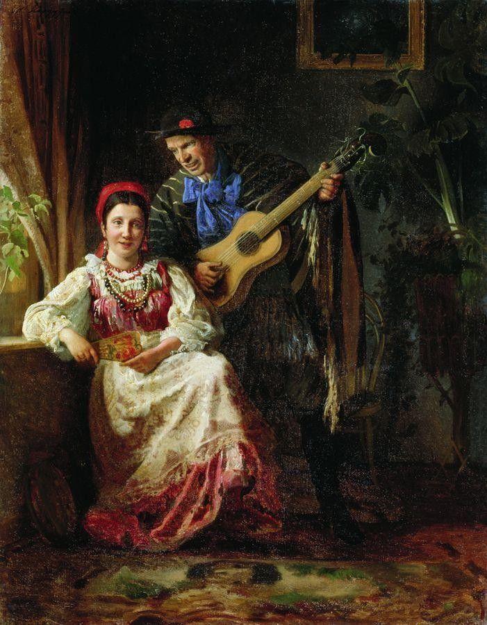 «Шутка», (ранее 1894) Корзухин   Алексей   Иванович   (1835-1894)