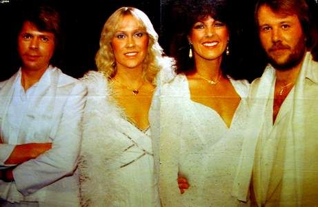 "When the ""Super Trouper"" album was released in the UK on November 21st 1980 it had already broken a new record: over 1 million copies had already been sold in pre-sale. No wonder that the album reached the number 1 and stayed put for 9 weeks. Super Trouper was number 1 in other countries as well like Germany (2 weeks), Mexico (1), Holland (9), Switzerland (12), Zimbabwe (6) and Sweden (7). These pic show the ABBA members during the shoot for the cover of the abum, October 3th 1980."