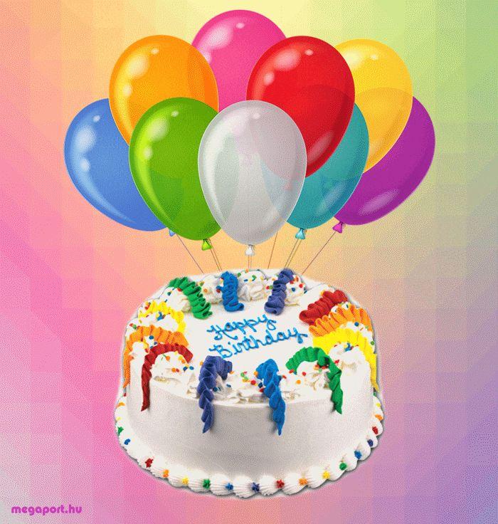 Открытка с днем рождения шары торт, днем рождения племяннице