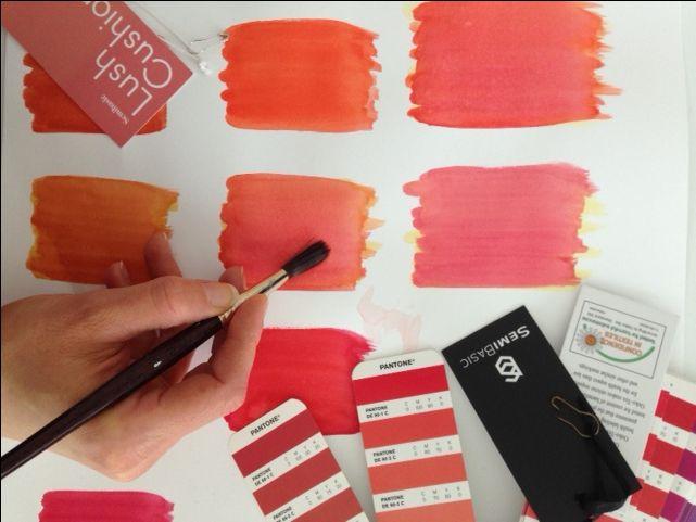 working on new colours for Semibasic hangtags #development #colour #pantone #CMYK www.semibasic.com
