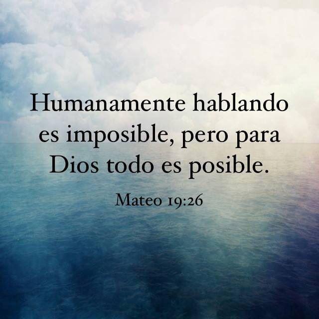 Para mi es posible, para para Dios no!