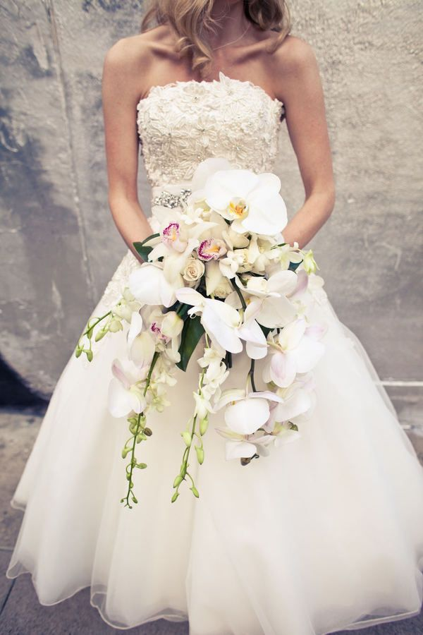 best cascading bridal bouquets images on, Natural flower
