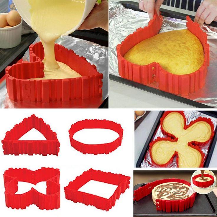 4pcs/set Silicone DIY Puzzle Cake Mould