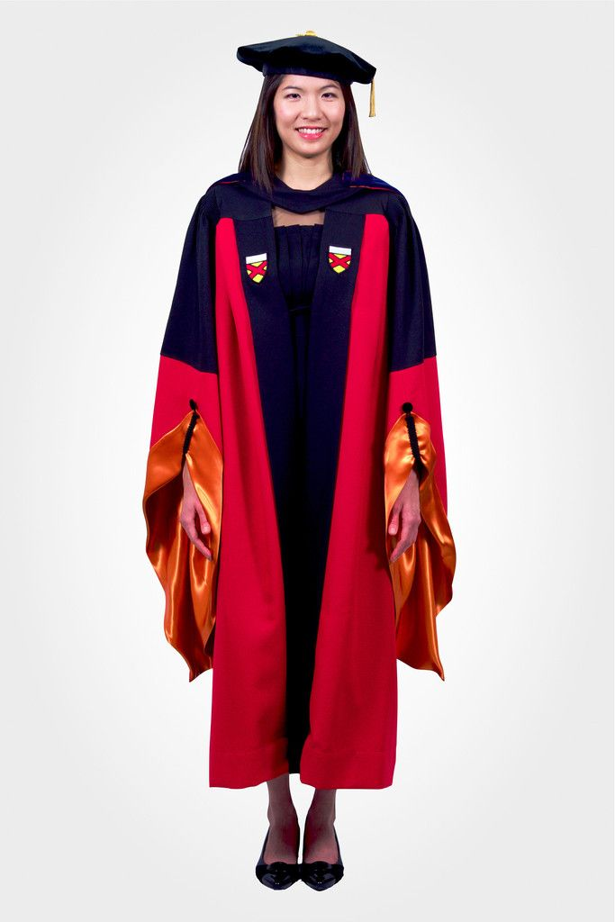 All you need for the graduation! Stanford Doctoral Regalia Complete Set: Engineering Department (Orange Trim)