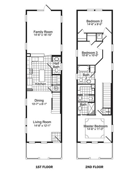 24 best Skinny Narrow Floor Plans images – Narrow Homes Floor Plans