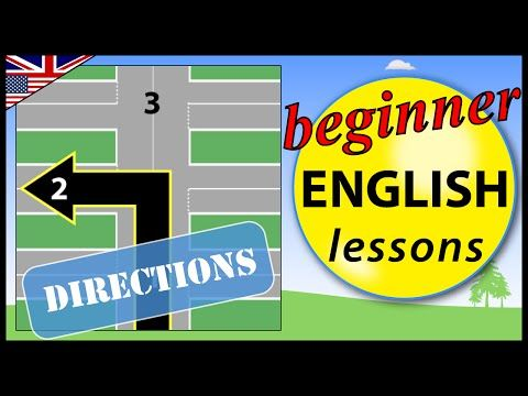Directions in English | Beginner English Lessons for Children - YouTube