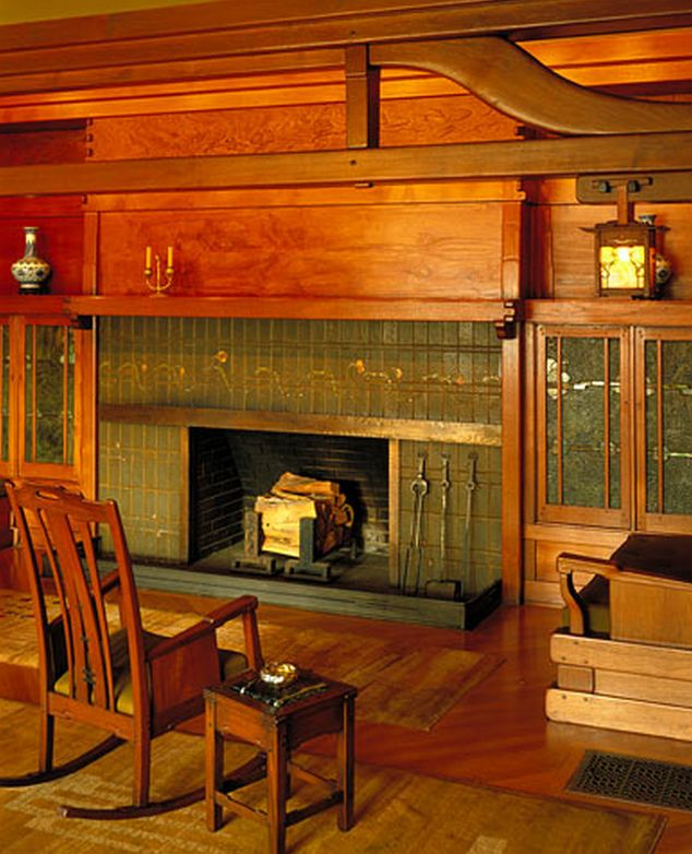 1845 best images about arts and crafts movement on for Craftsman fireplaces photos
