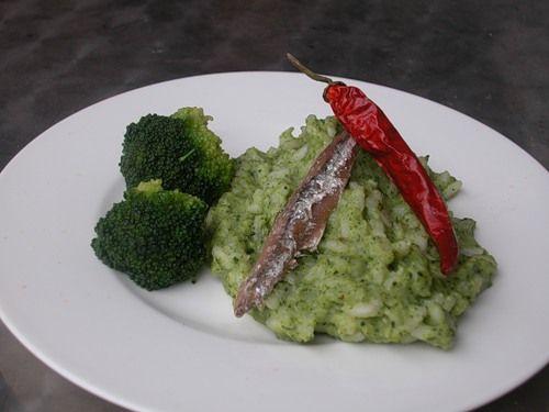 Рис с кремом из брокколи