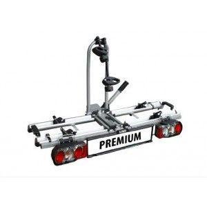 Porte-vélos LAS PREMIUM 1211 (haut de gamme).-Basculement facile en charge du porte vélo pour ouvrir le coffre.-Possibilité de mettre 2 vélos.-Antivol sur l'attelage   sur les fixations de vélo.-Sangles sur chaque roue de véloIl s'adapte sur toute voiture (col de cygne et boule sur plaque vissée).- Se plie pour être rangé facilement dans le coffre- Prévoir une plaque d'immatriculation standard (fixation rapide sans outil)