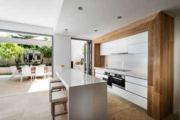 Love this Perth house by Swell Homes! kitchen and alfresco