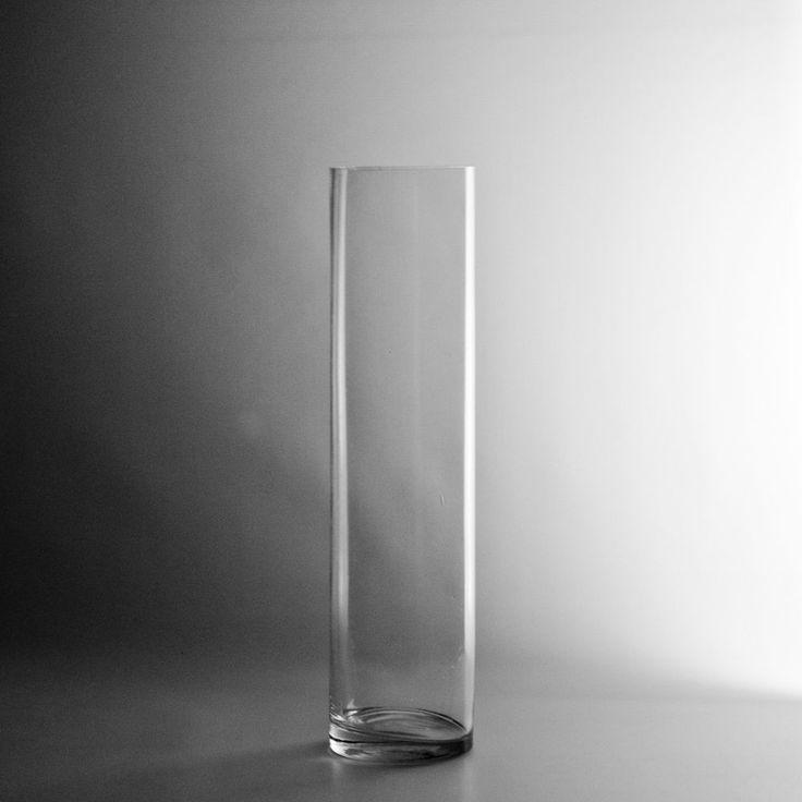 "Cylinder Clear Glass 16x4 16"" x 4"" Glass Cylinder Vase  $5.50"