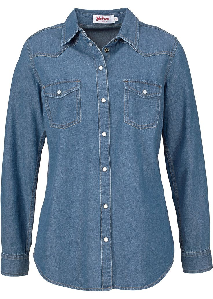 Jeanshemd mit langen Ärmeln, John Baner JEANSWEAR, blau