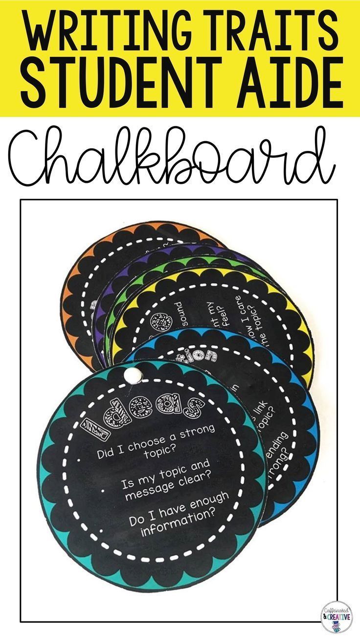 Chalkboard Themed Writing Traits Bulletin Board Posters And Aid Writing Traits Solving Word Problems Writing