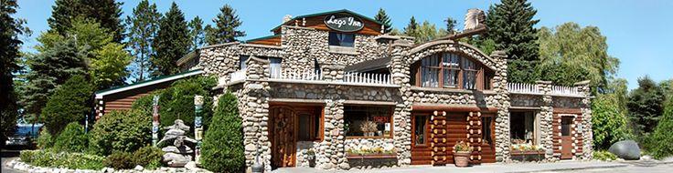 Legs Inn-restaurant in Cross Village Mi specializing in Polish food.Unique inside-beautiful outdoor eating area overlooking Lake MI