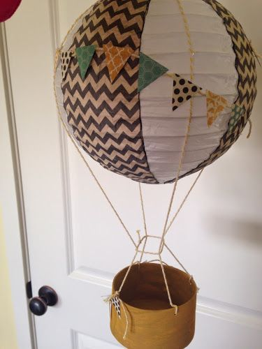 Hot Air Balloon decoration Tutorial - The Style Sisters