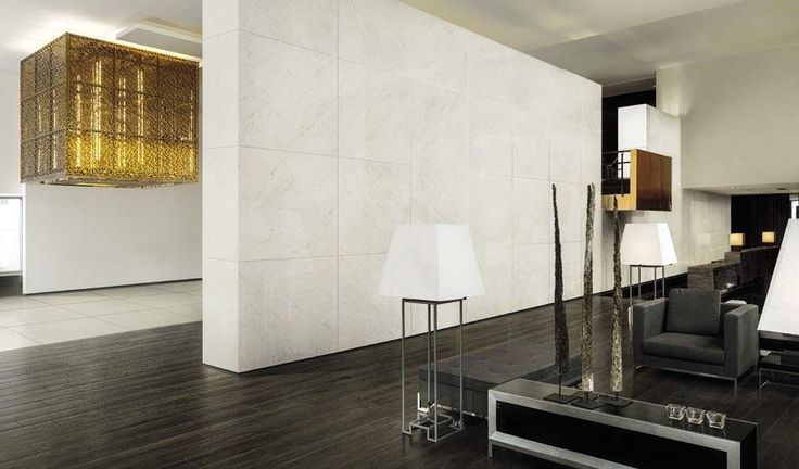 "Muse Carrara Polished 24""x24"" and Oak Pepper 6""x36"" #unicomstarker"