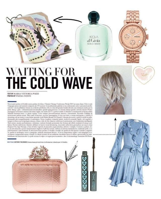 """pastel"" by veronika-grabanova on Polyvore featuring Zimmermann, Sophia Webster, Jimmy Choo, FOSSIL and Kate Spade"