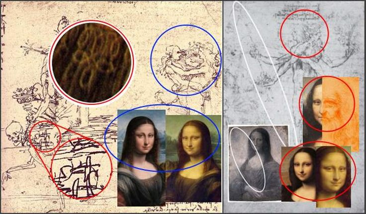These sketches and Mona Lisa paintings just have too much in common to be only coincidence.