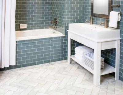 use this flooring in guest u0026 ju0026j bathrooms want to replicate in master bath but with heaters underneath herringbone carrera marble floor bathroom gallery