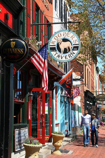 Pubs and bars in trendy Fells Point, MD...Can't wait to go this saturday!
