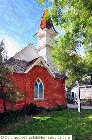 Historic Church (1886) in Brighton, Colorado