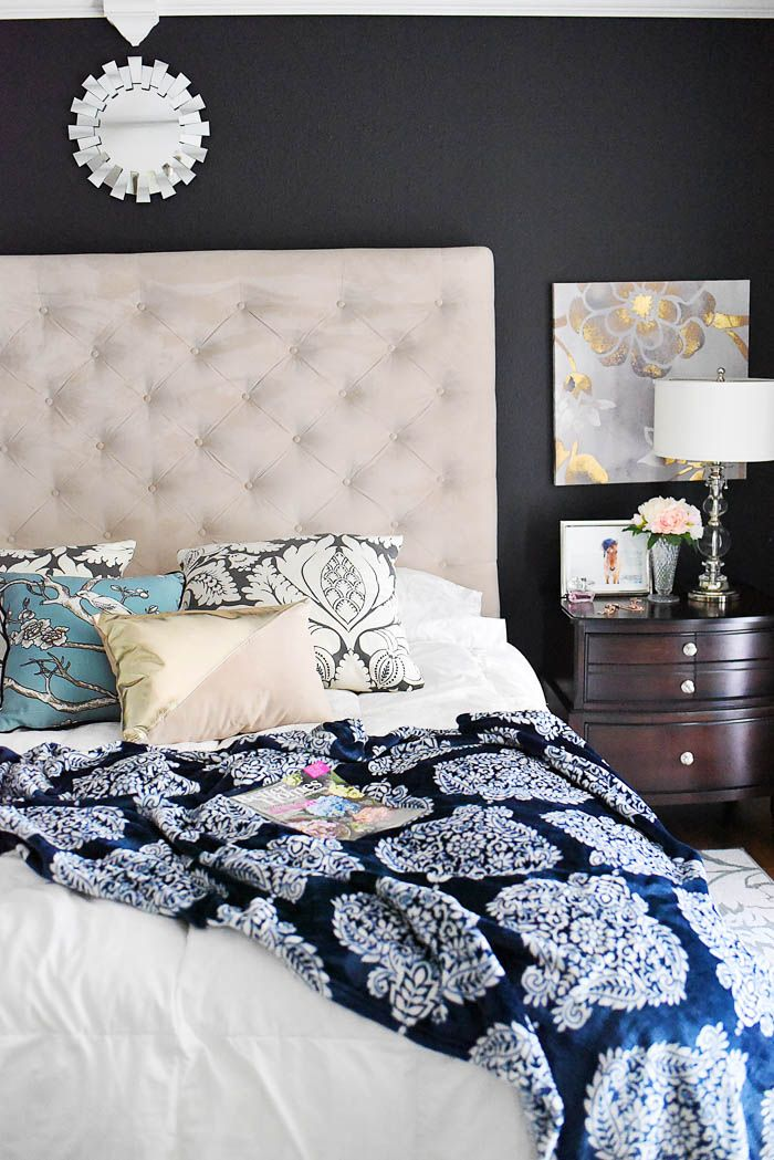 Navy & White Master Bedroom Refresh