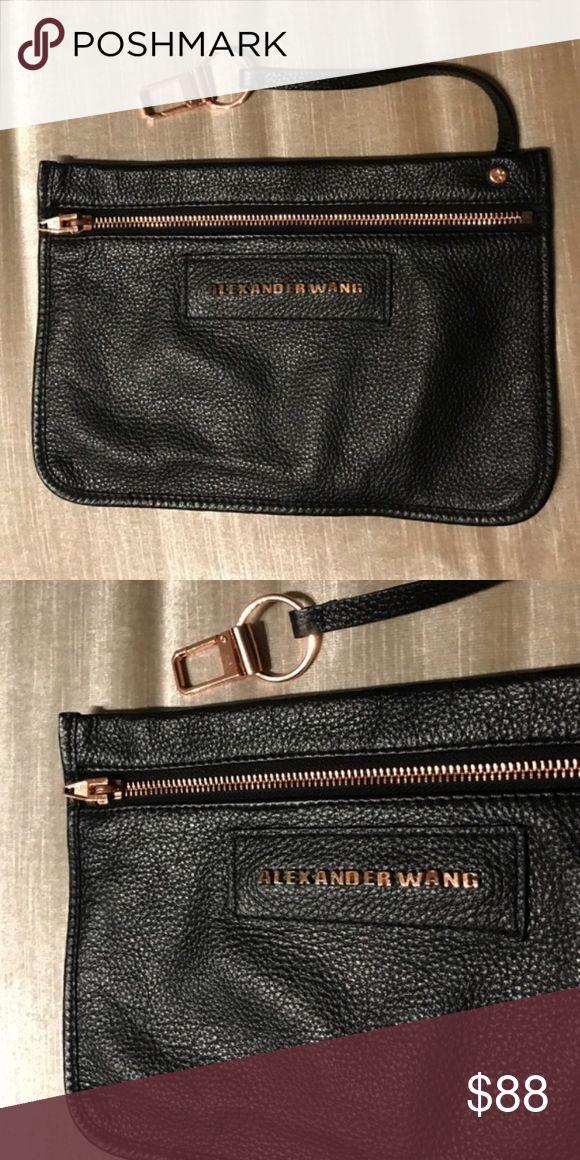 Alexander Wang Black Leather Zip Purse Wallet Excellent condition 💖💖💖 Alexander Wang Bags Clutches & Wristlets