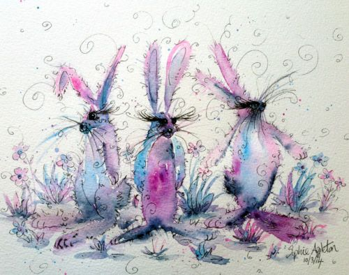 Original Watercolour Painting ' Bunny Trio ' by Sophie Appleton. I am soooo glad I bought this!