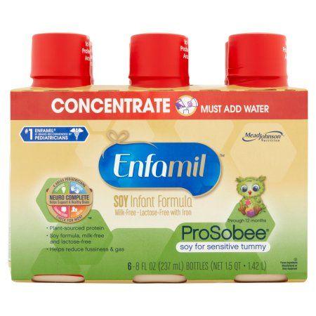 Enfamil ProSobee Soy Milk-Free-Lactose-Free with Iron Infant Formula 12 Months 6 x 8fl oz