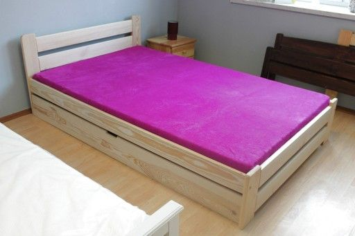 łóżko Drewniane Sosnowe Z Szuflada 180x200 Wysokie