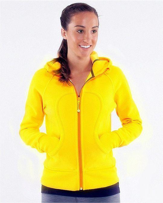 Lululemon Yoga Scuba Hoodie Yellow CANADA Sale