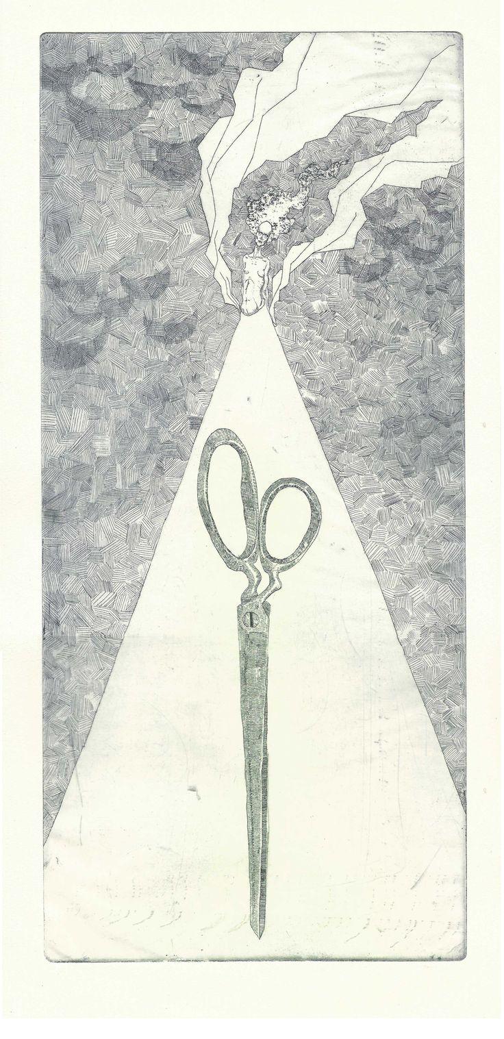 Seppo Alanissi - untitled, etching, 2015