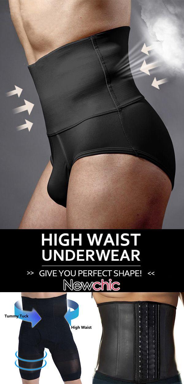 【Get Slim Now】Bodybuilding Belt Waist Boxers Underwear Bodysuit Waistband Co…