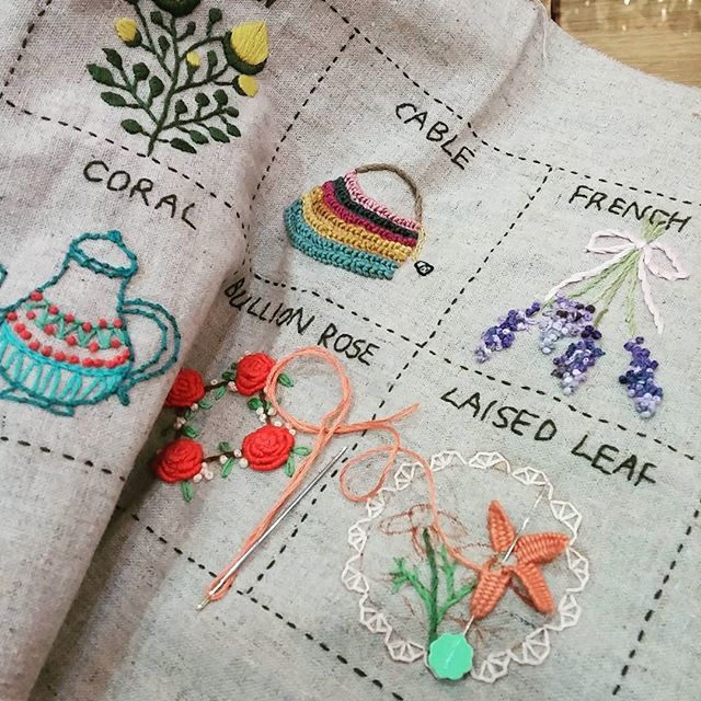 Best embroidery stitching fiber arts images on