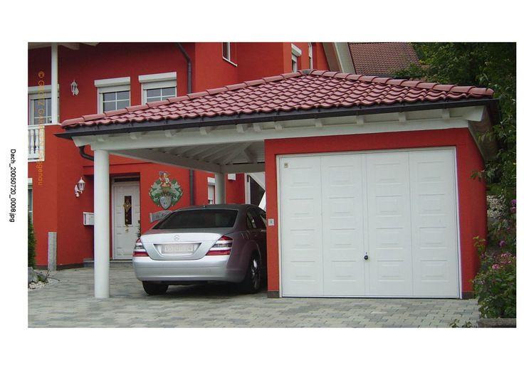 einzelgarage mit satteldach und carport rot einzelgaragen mit dachaufbauten garage carport. Black Bedroom Furniture Sets. Home Design Ideas