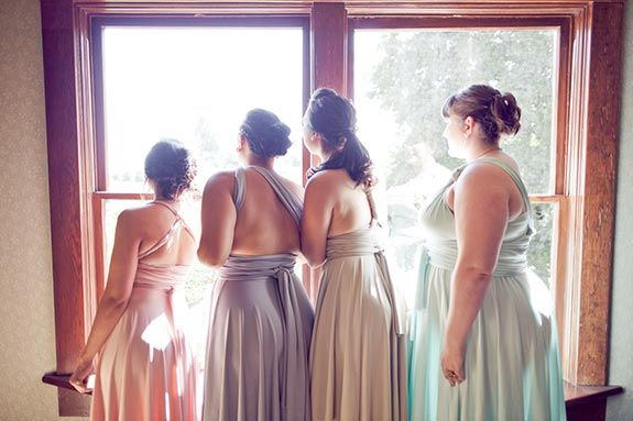 1000 Images About Bridesmaids Pastel Mixed Dresses On Pinterest