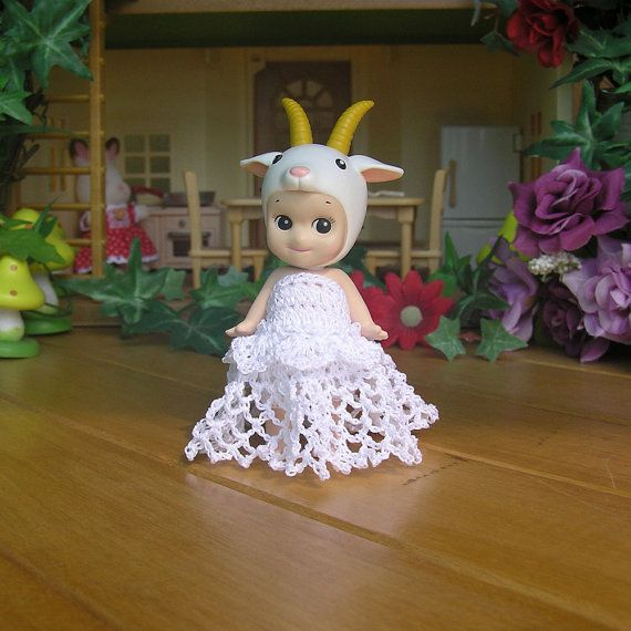 1pcs / White Dress For Sonny Angel / Sonny angel by HandKnitMania