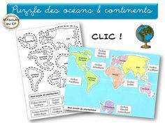 Apprendre les continents et les océans de façon interactive - Mitsouko au CP