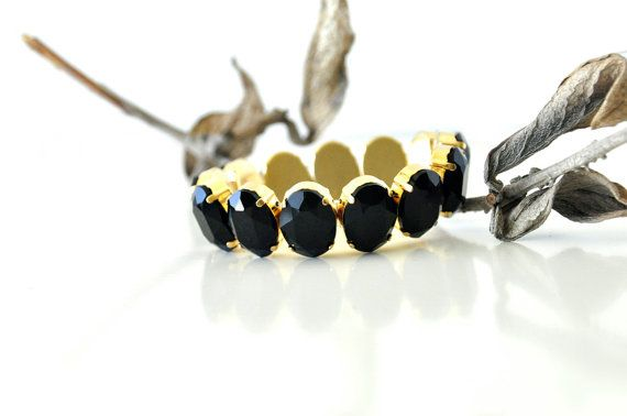 Check out this item in my Etsy shop https://www.etsy.com/listing/199207841/new-round-cut-black-gemstone-bracelet