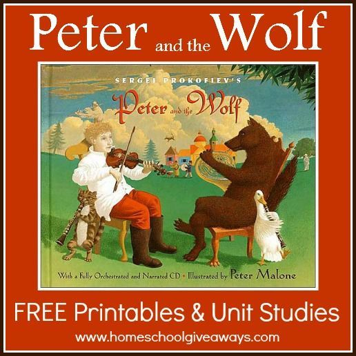 Peter and the wolf FREE Printables and Unit Studies!