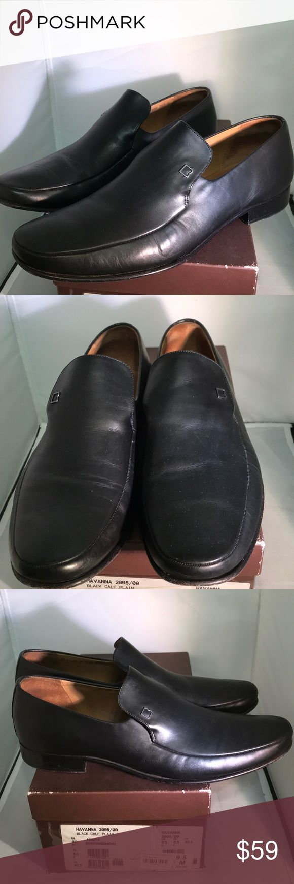 Pre-owned Bally's Men's Shoes size 9.5 These shoes are very nice and comfortable.  Black goes well with mostly all your attire. Bally Shoes Loafers & Slip-Ons