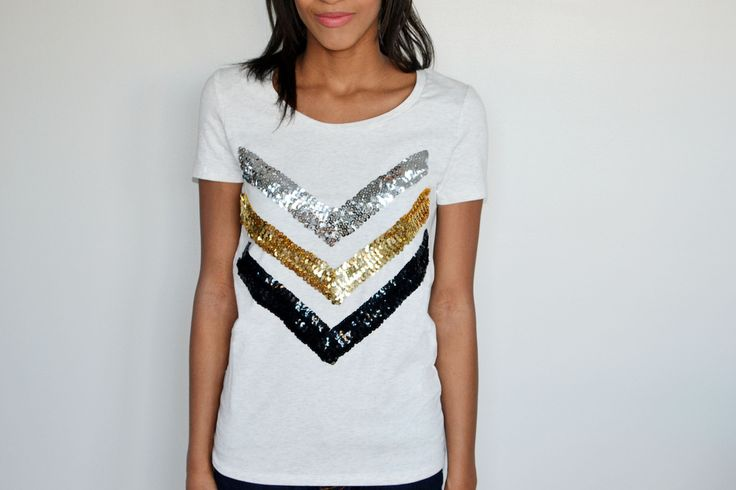 DIY Sequin T-shirt and Sequin Sweatshirt! by Spark & Chemistry Blog