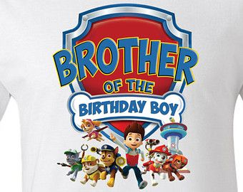 Paw Patrol Birthday Brother Personalized T Shirt Onesie Or Romper