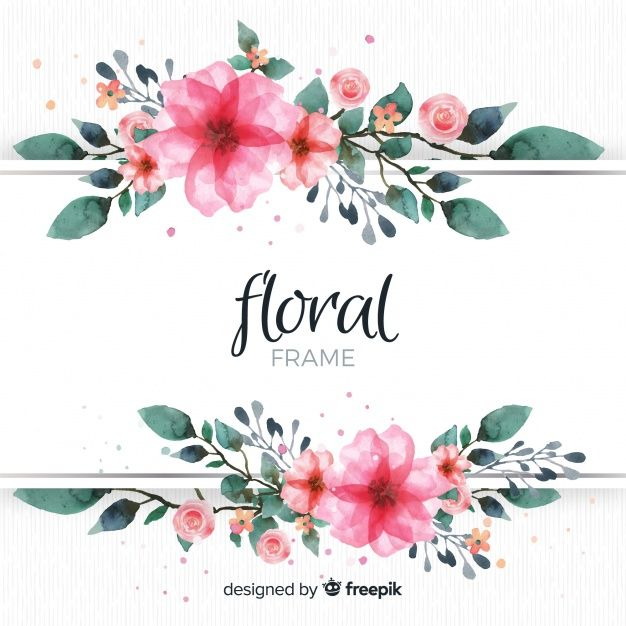 More Than 3 Millions Free Vectors Psd Photos And Free Icons Exclusive Freebies And All Graphic Resources That In 2020 Flower Frame Vintage Floral Backgrounds Floral