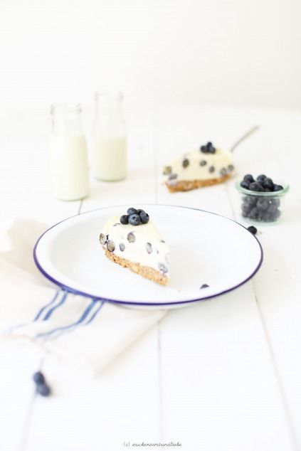 White Chocolate Cheesecake mit Blaubeeren <3