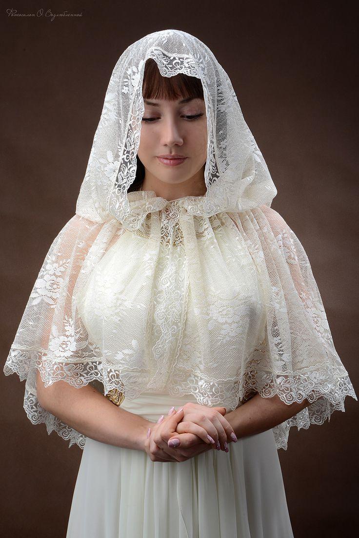 платок для венчания фото клонилось закату