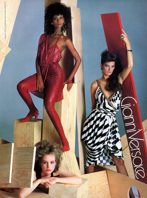 lustnspace: Iman: Gianni Versace Ad 1981 | deck of cards ...