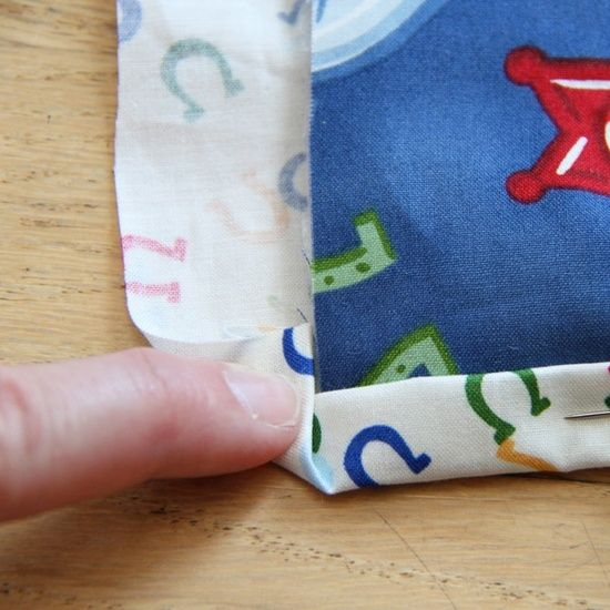 How to sew a binding on a quilt.