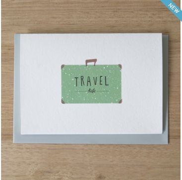 """*NEW* """"travel safe"""" greeting card from Ask Alice. #Bobangles #AskAlice #card #travel #gift #Australia"""